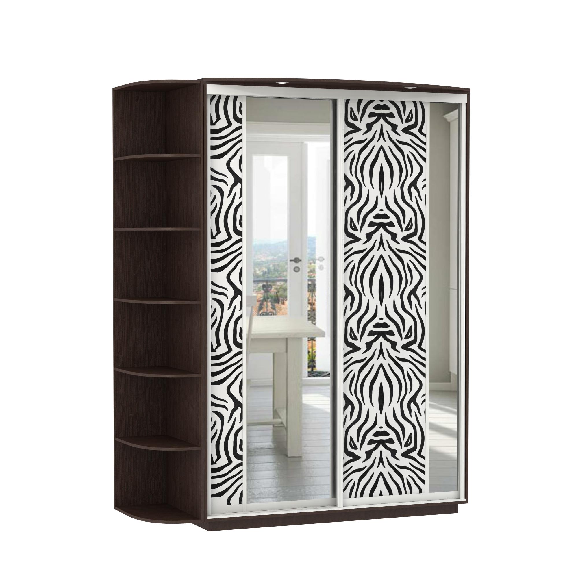 Шкафы-купе : 2-х дверный, корпус венге, двери экокожа, зерка.